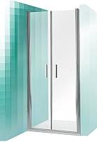 Душевая дверь Roltechnik Tower Line TCN2/100 (сатин/прозрачное стекло) -