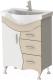 Тумба под умывальник Ювента Briz Б2-65 (бежевый) -
