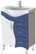 Тумба под умывальник Ювента Briz Б2-65 (синий) -