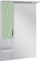 Шкаф с зеркалом для ванной Ювента Briz БШН32-65 (салатовый, левый) -