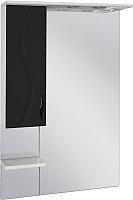Шкаф с зеркалом для ванной Ювента Briz БШН32-65 (черный, левый) -