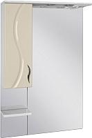 Шкаф с зеркалом для ванной Ювента Briz БШН32-75 (бежевый, левый) -