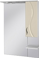 Шкаф с зеркалом для ванной Ювента Briz БШН32-75 (бежевый, правый) -