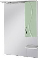 Шкаф с зеркалом для ванной Ювента Briz БШН32-75 (салатовый, правый) -