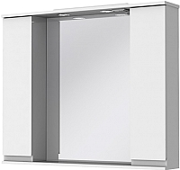 Шкаф с зеркалом для ванной Ювента Monika МШН33-100 (белый) -
