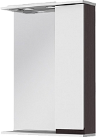 Шкаф с зеркалом для ванной Ювента Monika МШН33-75 (венге, правый) -