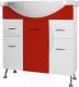 Тумба под умывальник Ювента Франческа Ф4-75 (красный) -