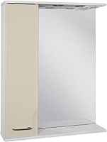 Шкаф с зеркалом для ванной Ювента Франческа ФШН32-65 (бежевый, левый) -