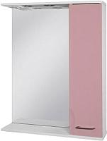 Шкаф с зеркалом для ванной Ювента Франческа ФШН32-65 (розовый, правый) -