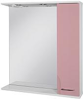 Шкаф с зеркалом для ванной Ювента Франческа ФШН33-75 (розовый) -