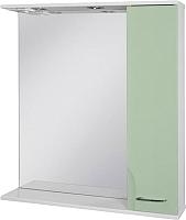Шкаф с зеркалом для ванной Ювента Франческа ФШН33-75 (салатовый) -