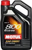 Моторное масло Motul 8100 Eco-lite 0W20 / 104983 (5л) -