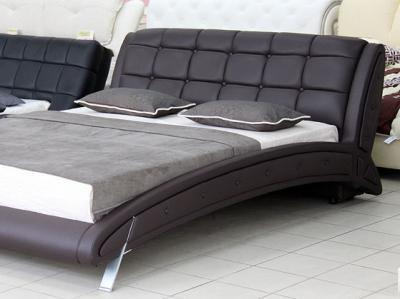 Двуспальная кровать Королевство сна K6662 160х200 (темно-коричневая) - в интерьере