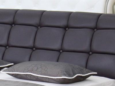 Двуспальная кровать Королевство сна K6662 160х200 (темно-коричневая) - обивка изголовья