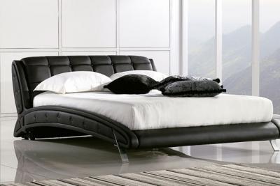 Двуспальная кровать Королевство сна K6662 160х200 (черная) - в интерьере
