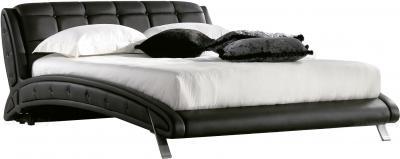 Двуспальная кровать Королевство сна K6662 160х200 (черная) - общий вид