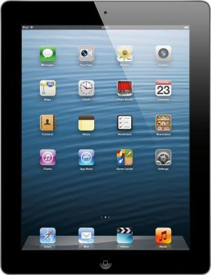 Планшет Apple IPad 4 32Gb Black (MD511TU/A) - фронтальный вид
