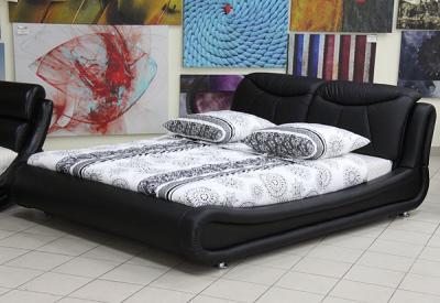 Двуспальная кровать Королевство сна JY103 160х200 (черная) - в интерьере