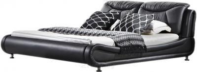 Двуспальная кровать Королевство сна JY103 180х200 (черная) - общий вид