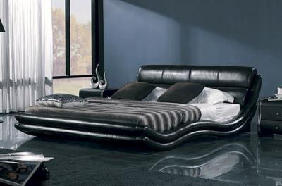 Двуспальная кровать Королевство сна K1377 160х200 (черная) - в интерьере