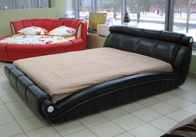 Двуспальная кровать Королевство сна W016 160х200 (черная) - общий вид