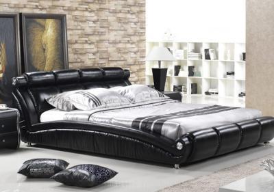 Двуспальная кровать Королевство сна W016 160х200 (черная) - в интерьере