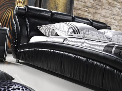 Двуспальная кровать Королевство сна W016 180х200 (черная) - в интерьере
