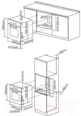 Электрический духовой шкаф Exiteq CKO-590 GLS