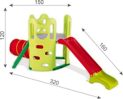 Горка-комплекс Smoby 310234 - схема с указанием размеров