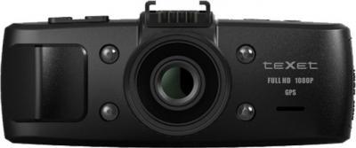 Автомобильный видеорегистратор TeXet DVR-1GS (Black) - фронтальный вид