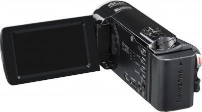 Видеокамера JVC GZ-E305 Black - вид сзади
