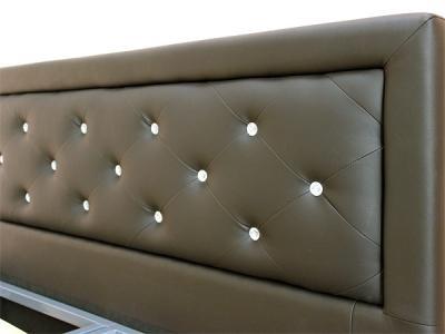 Двуспальная кровать Королевство сна Fancy 160x200 (темно-коричневая) - обивка из экокожи