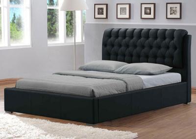 Двуспальная кровать Королевство сна Casa 160x200 (темно-коричневая, с основанием) - в интерьере