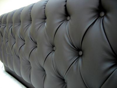 Двуспальная кровать Королевство сна Casa 160x200 (темно-коричневая, с основанием) - обивка из экокожи