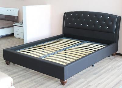 Двуспальная кровать Королевство сна Insigne 160x200 темно-коричневая с кристаллами (с основанием) - основание
