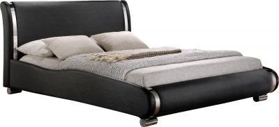 Двуспальная кровать Королевство сна Afrodita 160x200 (черная, без основания) - общий вид