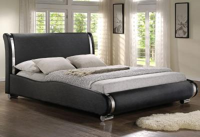 Двуспальная кровать Королевство сна Afrodita 160x200 (черная, с подъемным механизмом) - в интерьере
