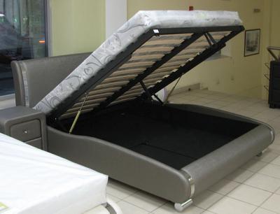 Двуспальная кровать Королевство сна Afrodita 160x200 (черная, с подъемным механизмом) - подъемный механизм