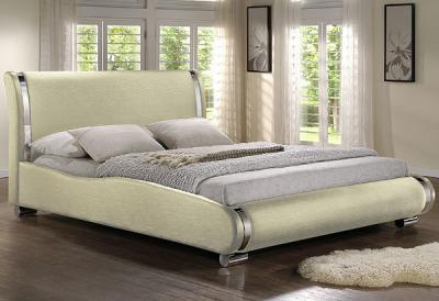 Двуспальная кровать Королевство сна Afrodita 160x200 (жемчужная, без основания) - в интерьере