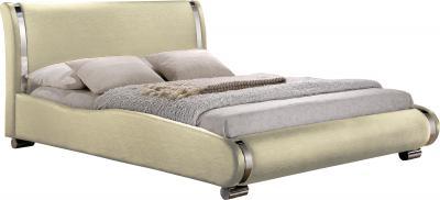 Двуспальная кровать Королевство сна Afrodita 160x200 (жемчужная, без основания) - общий вид