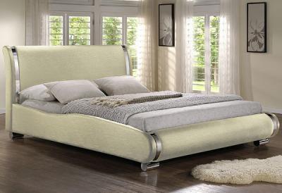 Двуспальная кровать Королевство сна Afrodita 160x200 (жемчужная,с подъемным механизмом) - в интерьере