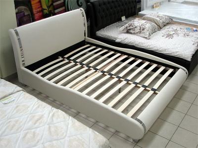 Двуспальная кровать Королевство сна Afrodita 160x200 (жемчужная,с подъемным механизмом) - общий вид