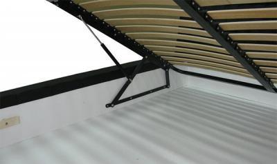Двуспальная кровать Королевство сна Afrodita 160x200 (серая, с подъемным механизмом) - подъемный механизм