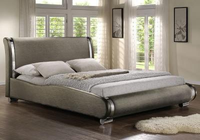 Двуспальная кровать Королевство сна Afrodita 180x200 (серая) - в интерьере