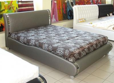 Двуспальная кровать Королевство сна Afrodita 180x200 (серая) - общий вид