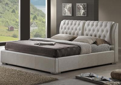 Двуспальная кровать Королевство сна Sophia 160x200 (жемчужная, без основания) - в интерьере