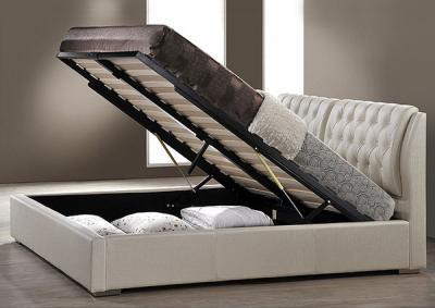 Двуспальная кровать Королевство сна Sophia 160x200 (жемчужная) - подъемный механизм