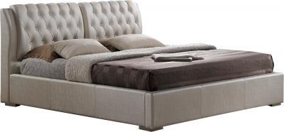 Двуспальная кровать Королевство сна Sophia 180x200 (жемчужная, без основания) - общий вид