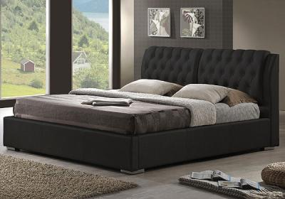 Двуспальная кровать Королевство сна Sophia 160x200 (черная, без основания) - в интерьере