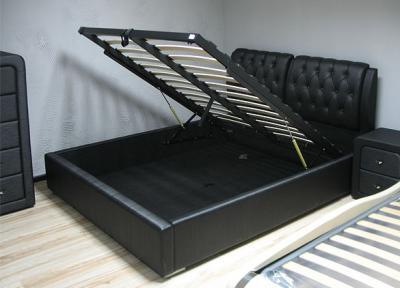 Двуспальная кровать Королевство сна Sophia 180x200 (черная, с подъемным механизмом) - подъемный механизм